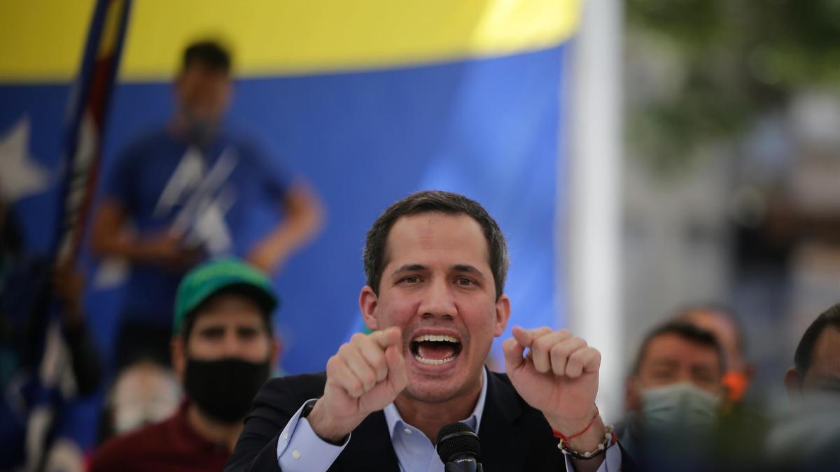 """El autoproclamado """"presidente encargado"""" de Venezuela, Juan Guaidó."""