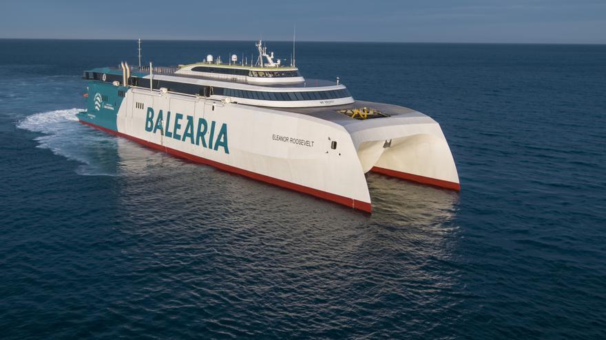 Baleària comienza a operar el primer fast ferry con motores a gas natural