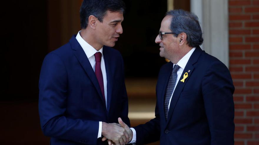 La trobada entre Sánchez i Torra rebaixa  tensions però denega l'autodeterminació