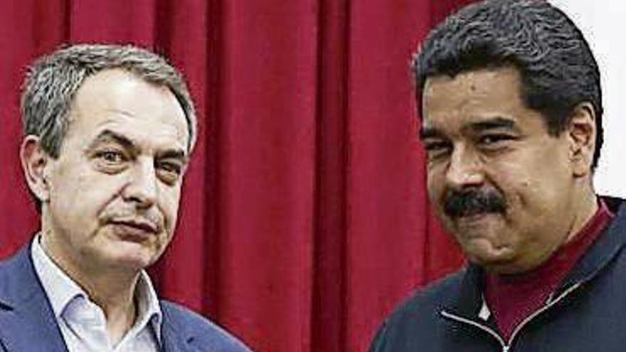 Zapatero se reúne con Maduro y la presidenta de la Asamblea Constituyente en Caracas