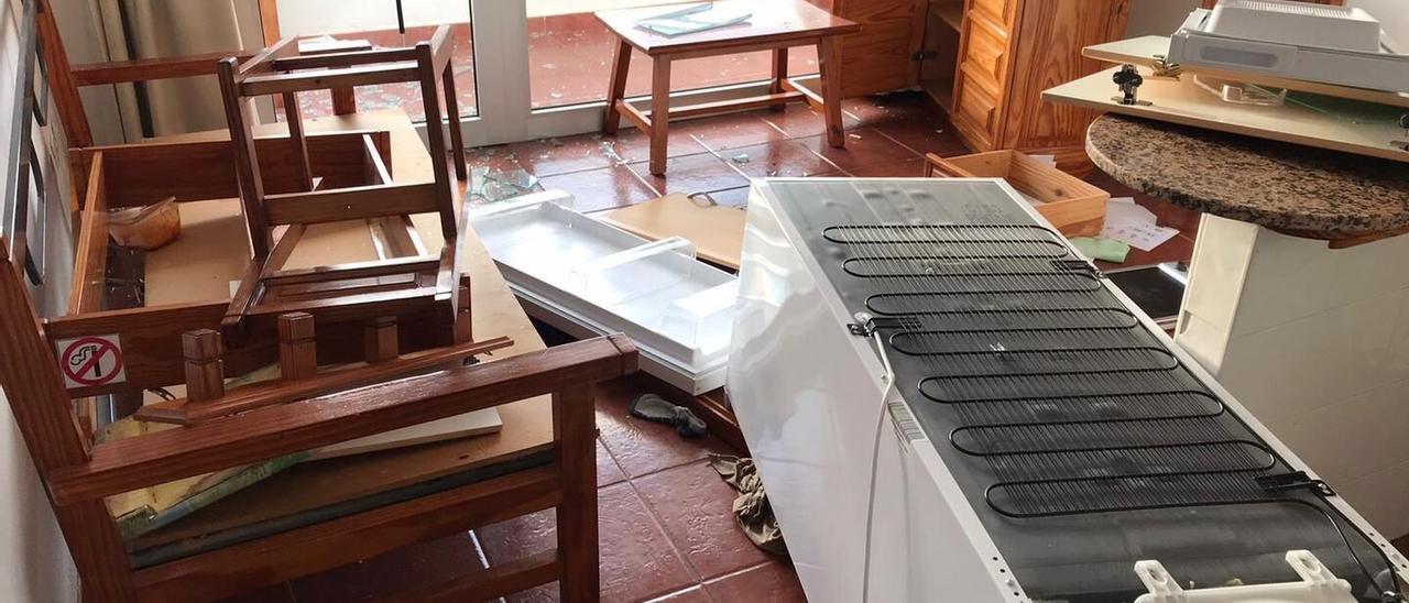 Desperfectos en el centro de menores de Porto Bello
