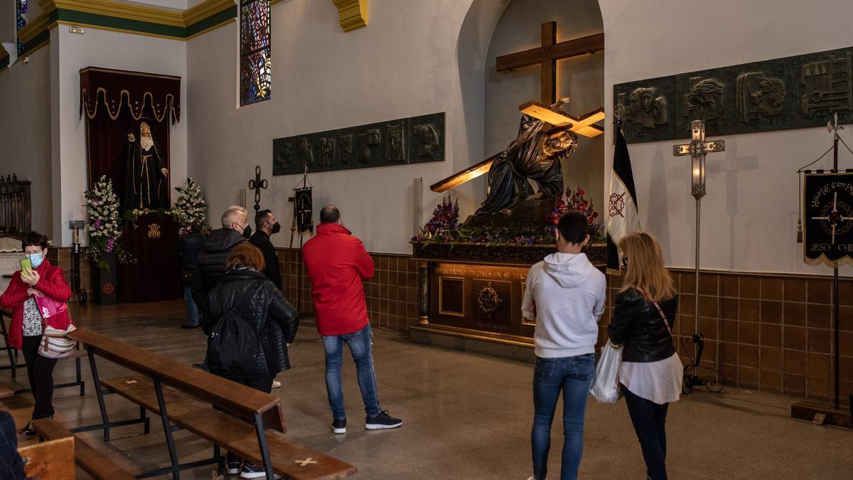 Exposición de la Tercera Caída, esta mañana en San Lázaro