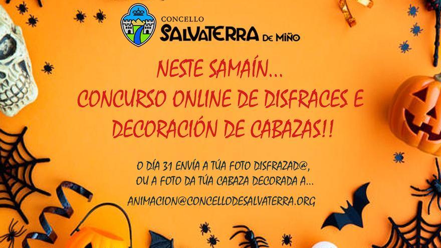 Concurso online de disfraces e decoración de cabazas