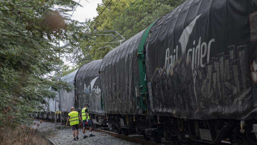 Restablerta la circulació de trens per via única entre Caldes i Girona pel descarrilament d'un tren de mercaderies