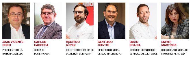Los ponentes del desayuno empresarial de 'Mediterráneo', con el patrocinio de Elektrosol e Imagina Energía.