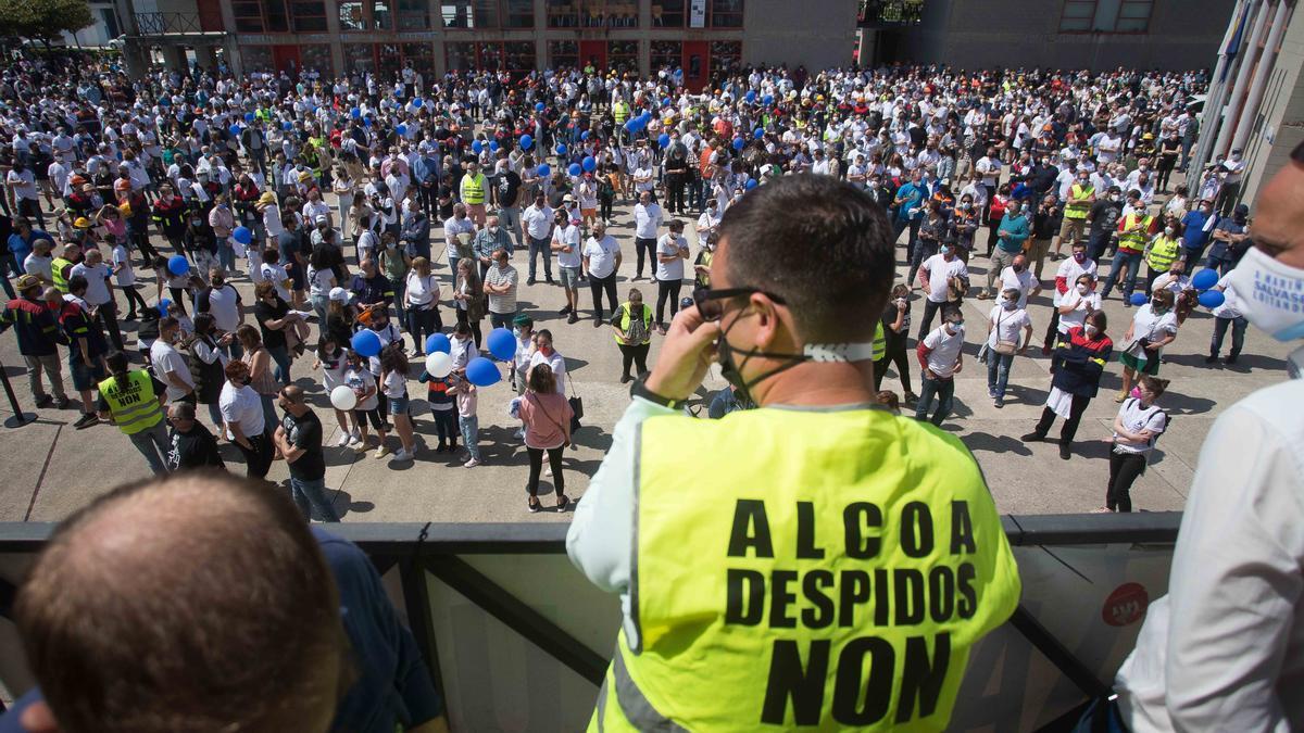 Imagen de una de las protestas de los trabajadores de Alcoa.