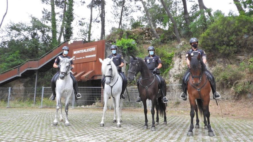 """""""Policía montada"""" en Ourense contra los incendios"""