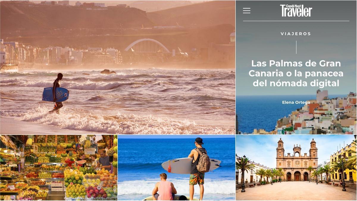 """Las Palmas de Gran Canaria es """"la panacea del nómada digital"""" para Condé Nast Travele"""