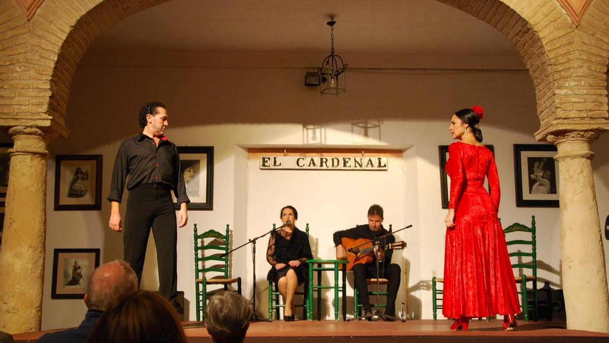 Espectáculo de flamenco en el tablao El Cardenal.