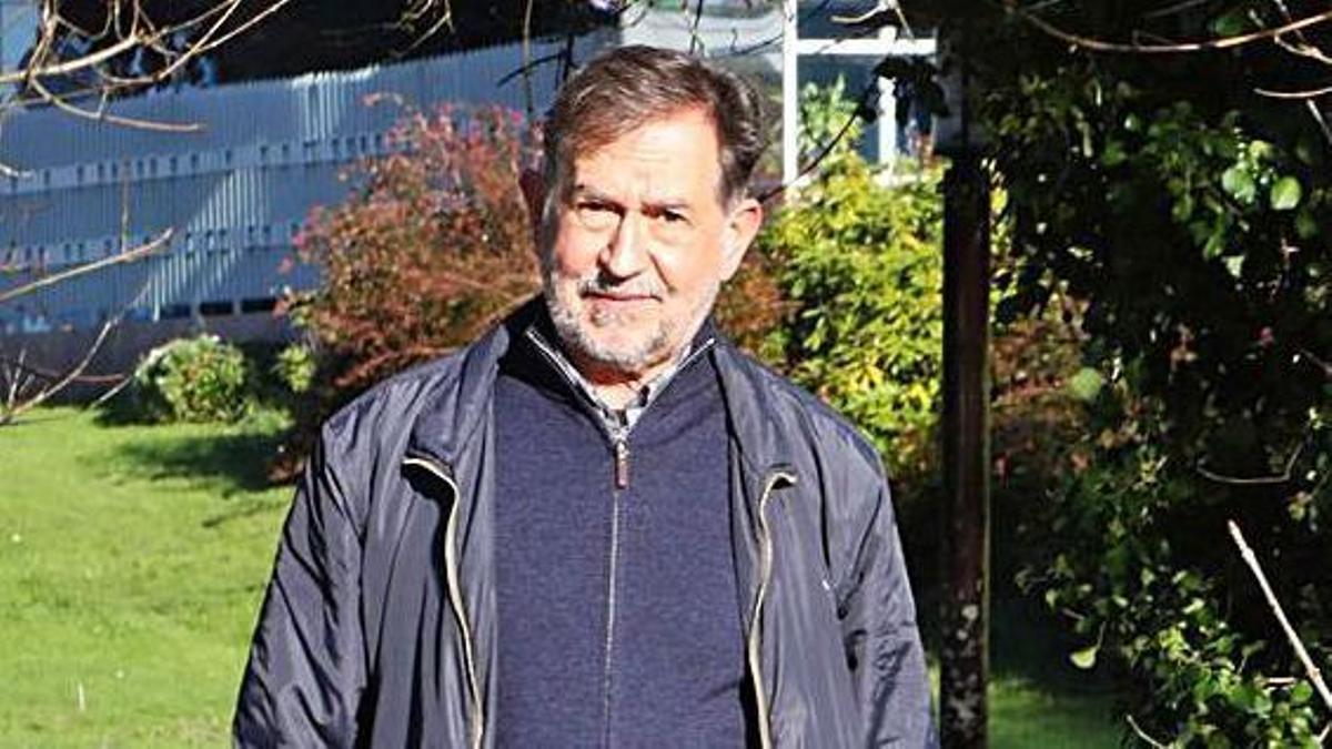 Suso de Toro, no parque compostelán Eugenio Granell.