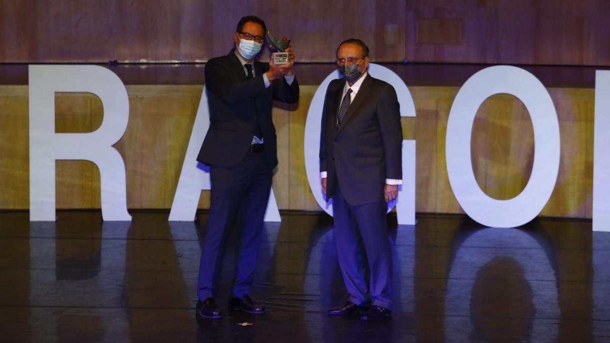 Sergio Alarcón, consejero delegado de la Terminal Marítima de Zaragoza y Javier Moll, presidente de Prensa Ibérica