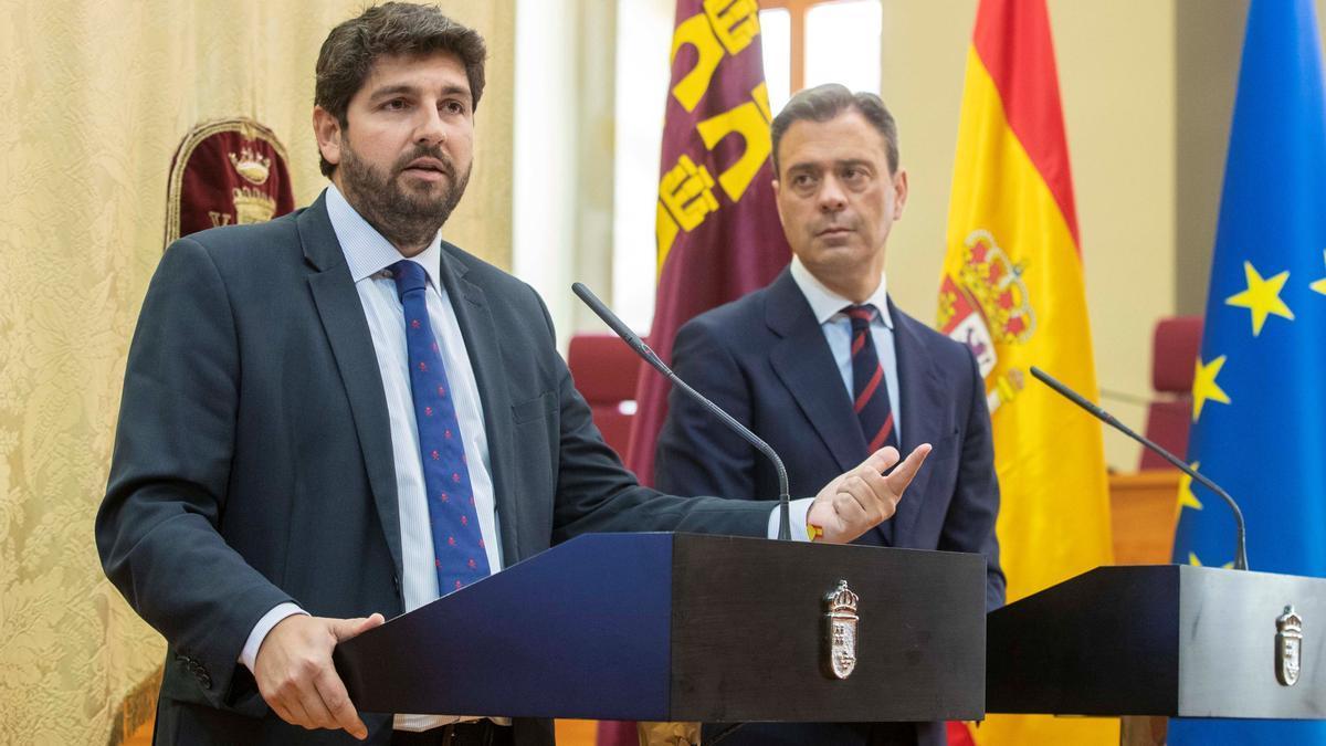 Fernando López Miras y Marcos Ortuño