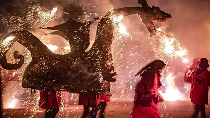 El foc de Xàldiga torna a Manresa
