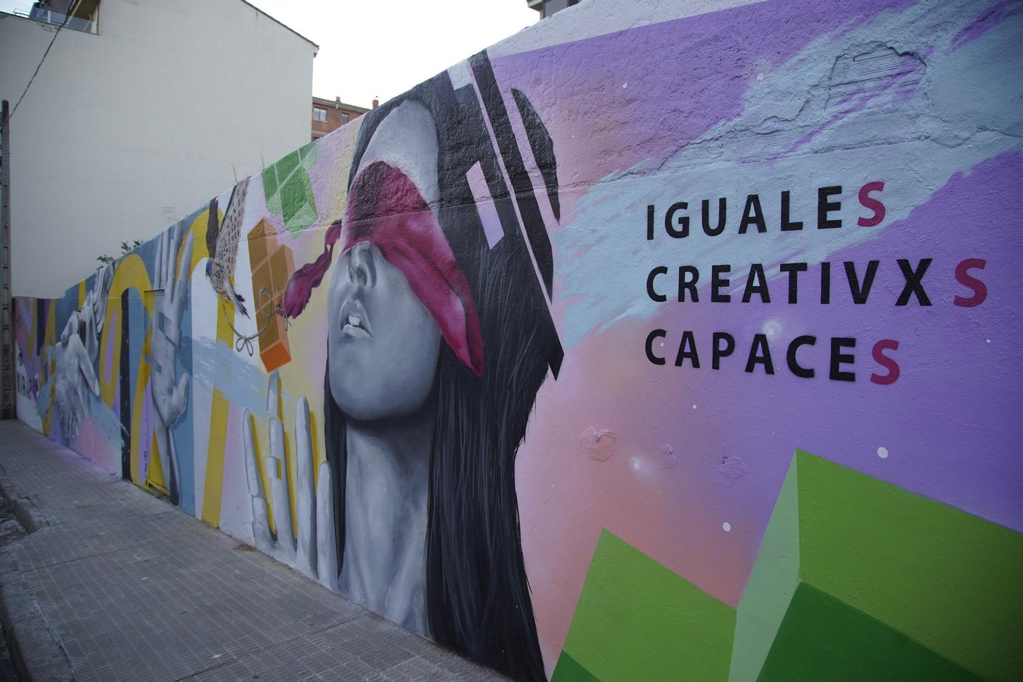Las mejores imágenes de la inauguración del nuevo mural de Fundación Personas y Kobas