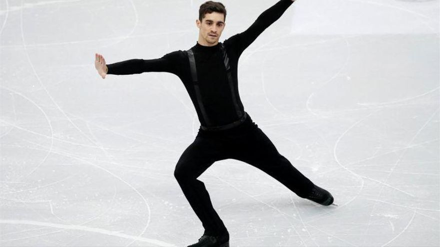 Javier Fernández, tercero tras el programa corto