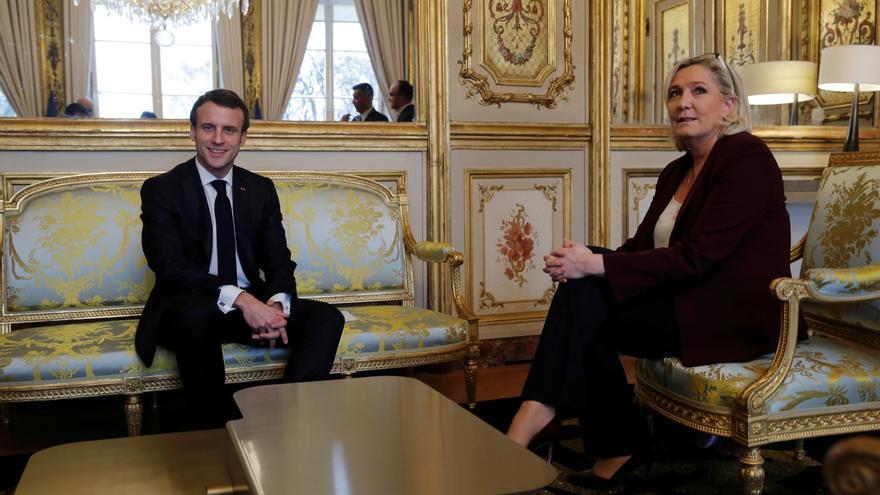 Macron y Le Pen se disputarán la presidencia de Francia, según una encuesta