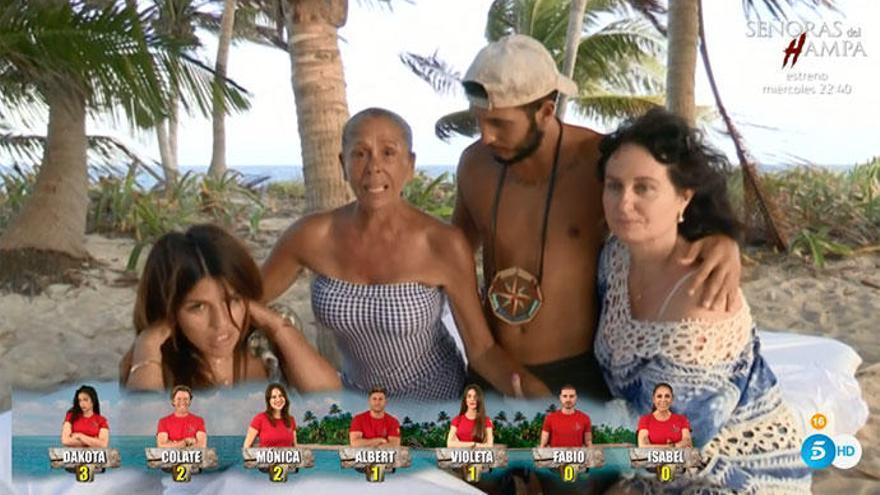 'Supervivientes': El emotivo y eufórico reencuentro de Isabel Pantoja con su hija