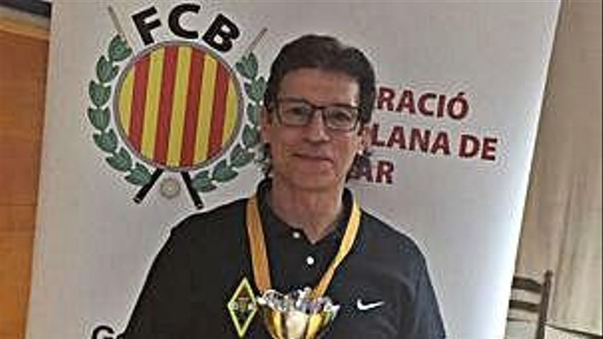 Antoni Sáez, billarista del CB Manresa, queda subcampió català a la banda