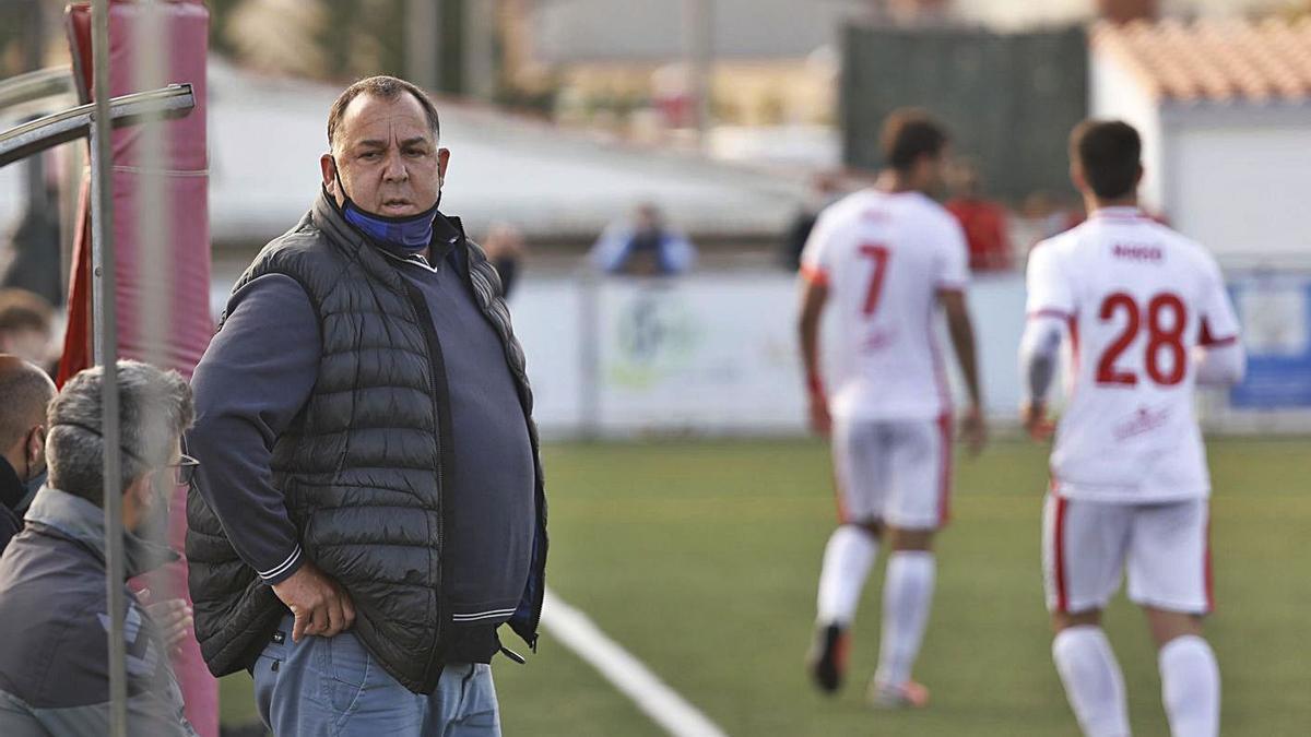 Oriol Alsina, en un partit d'aquesta temporada al Municipal.  | ANIOL RESCLOSA