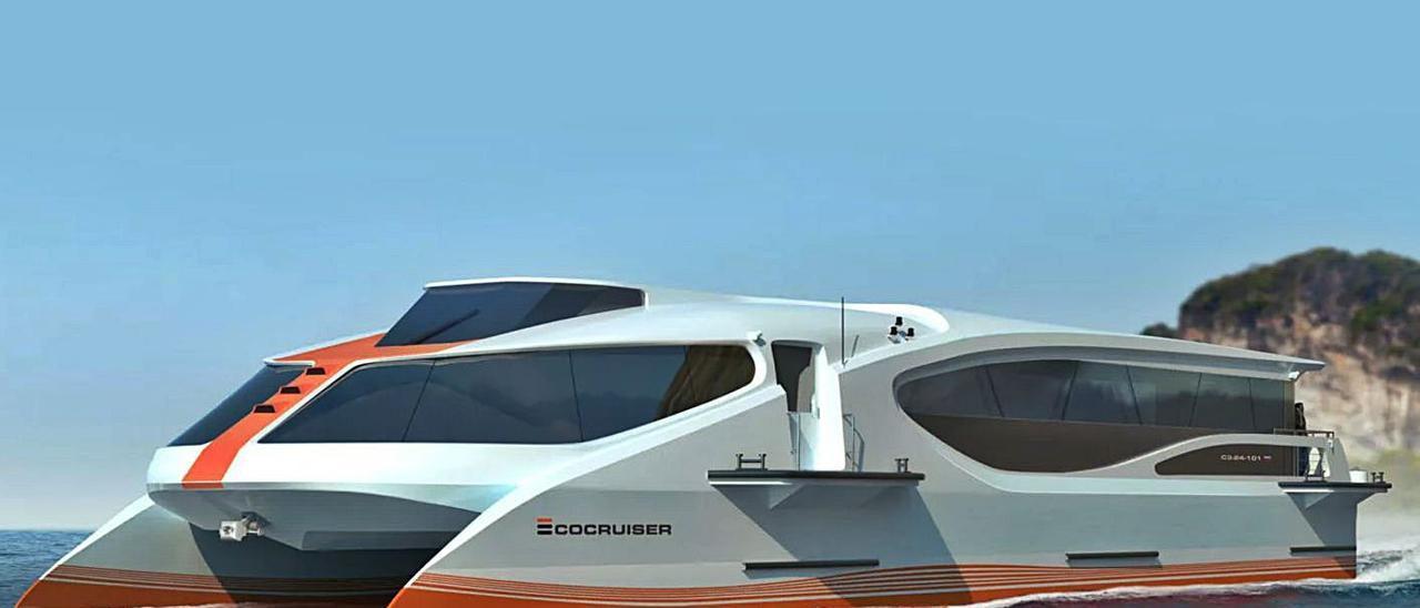 Diseño de los barcos de pasaje eléctricos que equipará Fluidmecánica.     // EMPERIUM