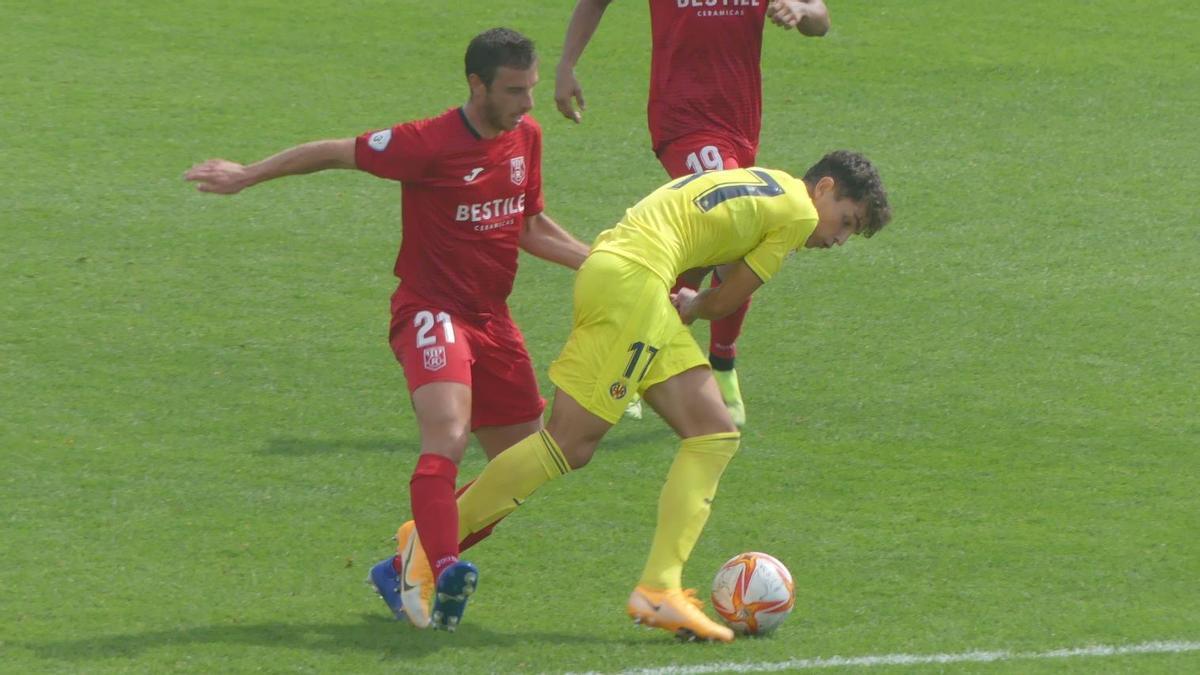 El Roda se llevó el derbi ante el Villarreal C en el Mini Estadi.
