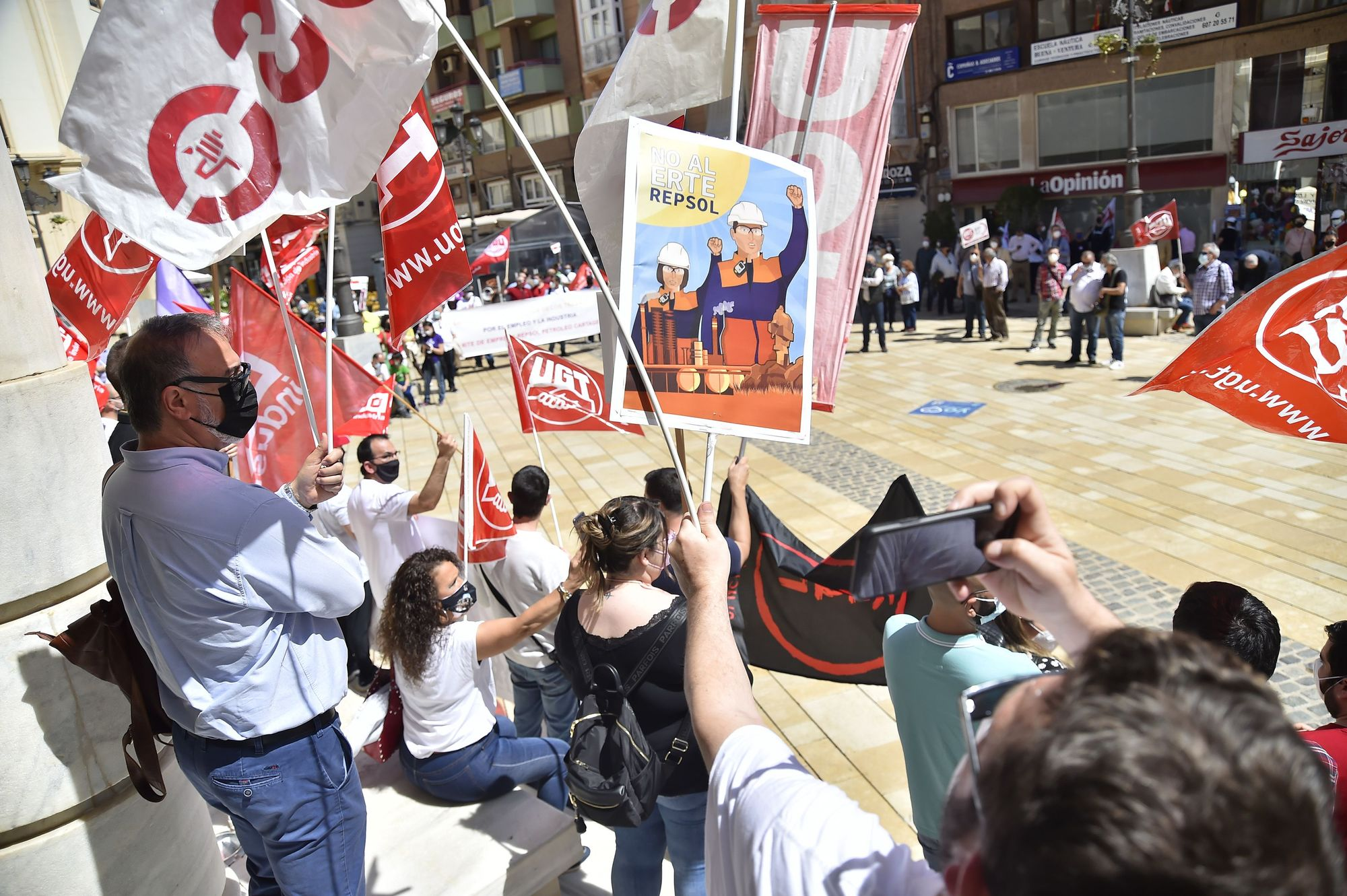 Manifestación del 1 de mayo en Cartagena