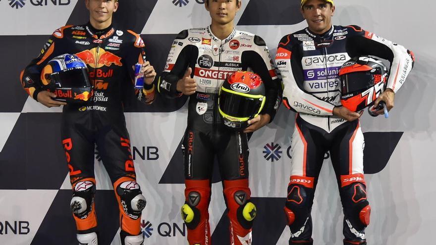 Albert Arenas, primer ganador y líder de Moto3