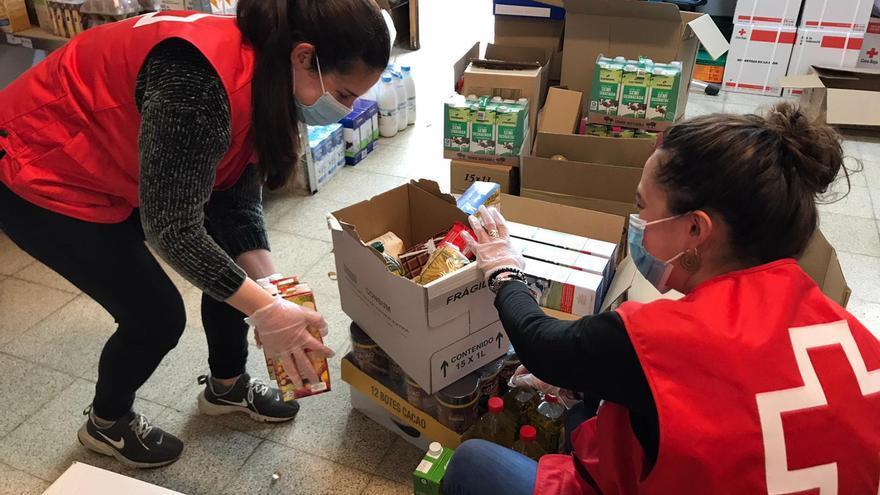 La meitat de les famílies demandants d'ajuda alimentària a la Creu Roja no tenen cap ingrés estable
