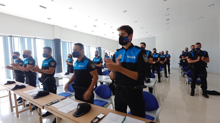 Presentación de los nuevos policías locales de Oviedo