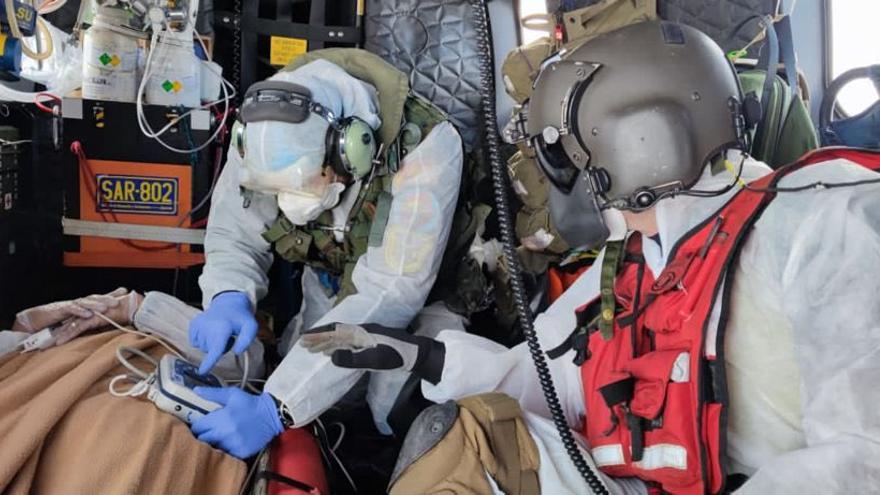 Rescate de un marinero con posible cepa india de coronavirus