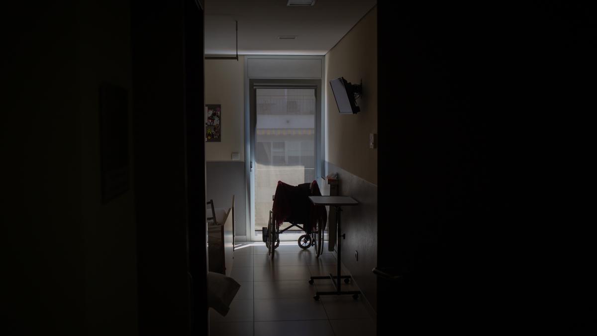 Habitació d'un geriàtric durant la pandèmia