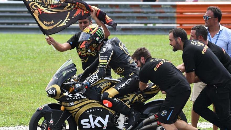 Francesco Bagnaia logra la corona en Moto2