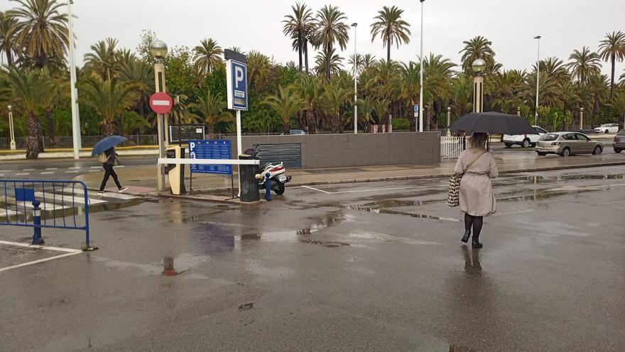 La borrasca Lola deja precipitaciones intermitentes en Elche y comarca