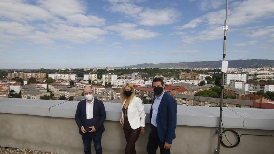 Cinco antenas recopilan datos para hacer de Córdoba una ciudad inteligente