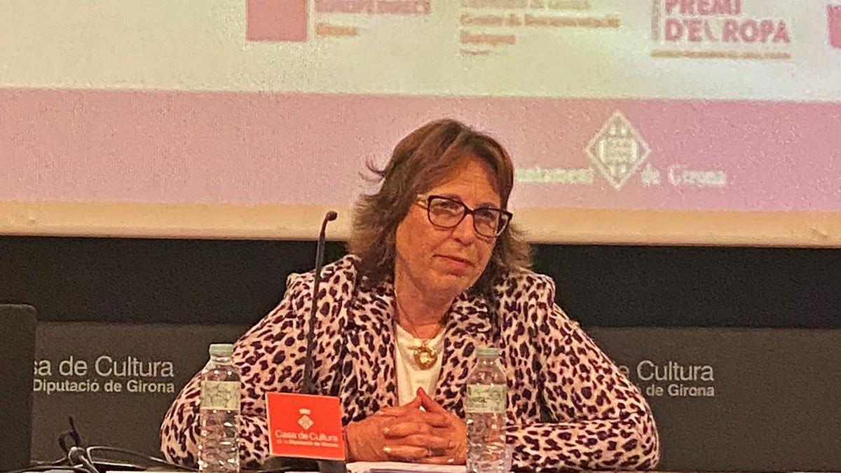 Francina Esteve, en una conferència sobre Europa.  | EUROPE DIRECT