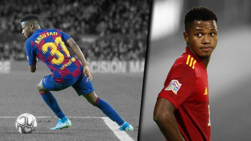 Ansu Fati, el goleador más joven de la selección
