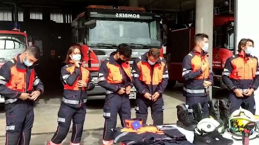 Los Bomberos de Palma estrenan nuevos EPI durante un simulacro de incendio