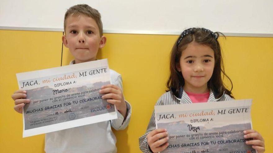 'Jaca, mi ciudad, mi gente', la idea de unos escolares para apoyar al comercio local