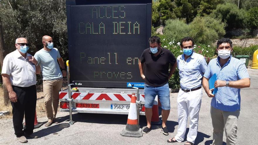 Ab sofort zählt ein Automat die Zahl der Autos in der Cala Deià