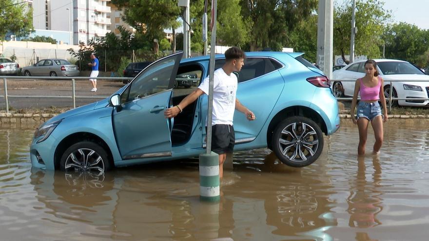 La tromba de agua en Sagunto, Canet y Benicassim causa graves inundaciones