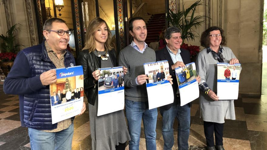 """El PP del Consell regala un calendario de asuntos """"pendientes"""" a Cladera"""