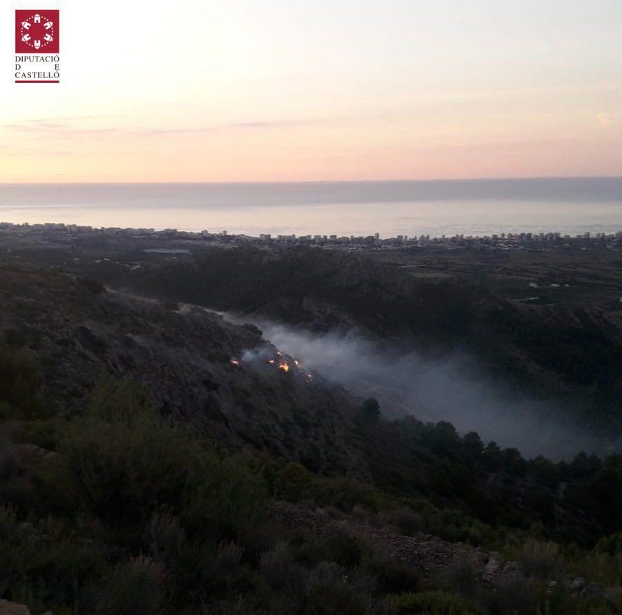Controlado un incendio en el Desert de les Palmes