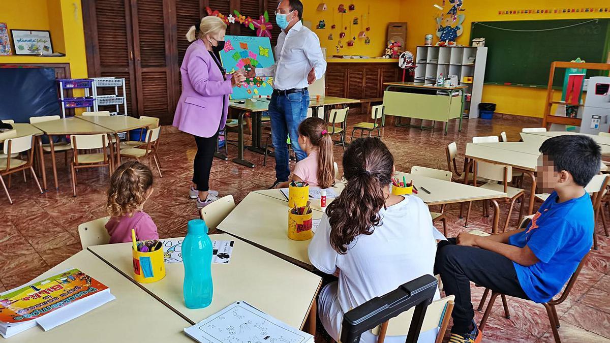 Escuela unitaria de Tacande.