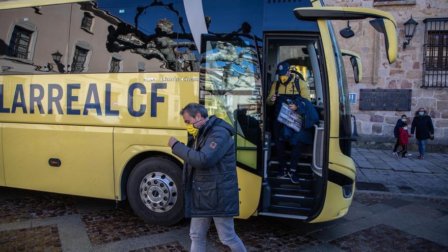 GALERÍA | El Villarreal ya está en Zamora para disputar la Copa del Rey