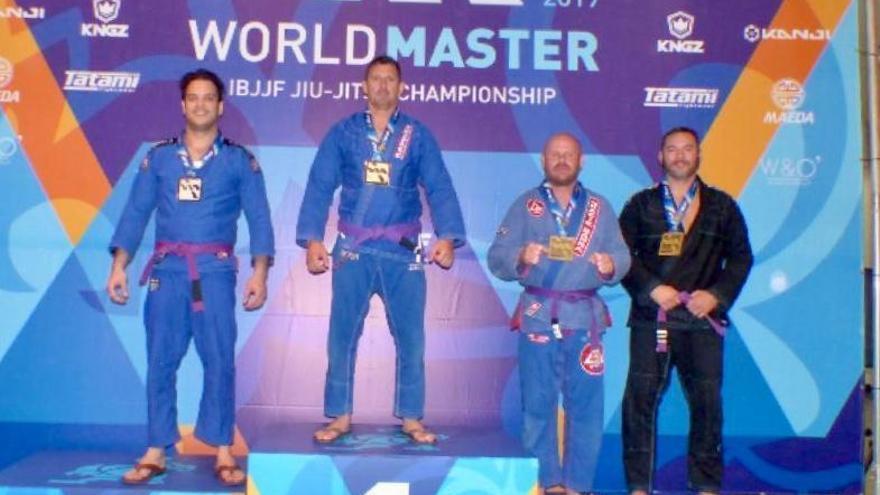Un policía de Málaga gana el campeonato mundial de jiu-jitsu