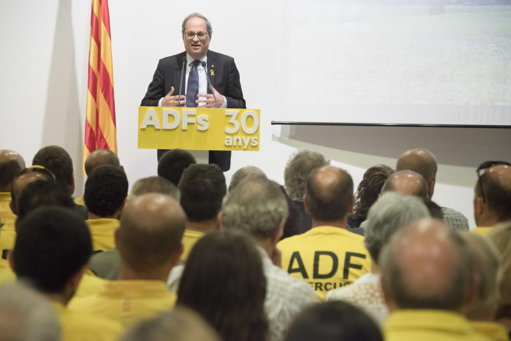 Les ADF commemoren el seu 30è aniversari amb Quim Torra