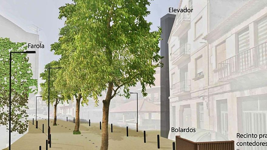 El Concello valoraría unas escaleras mecánicas en vez de ascensores si los colectivos ayudan para lograr las cesiones