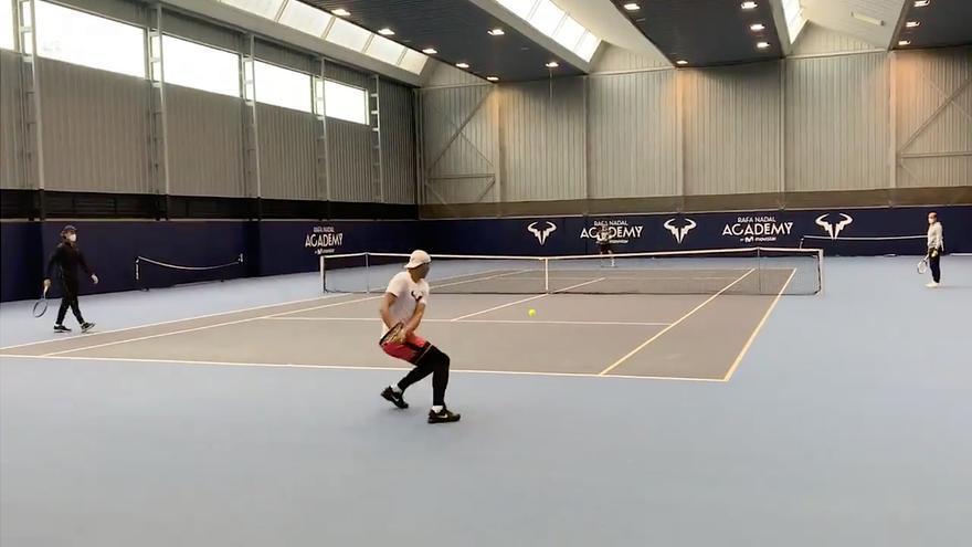 Así se entrenan Rafa Nadal y Roberto Bautista en la Academia