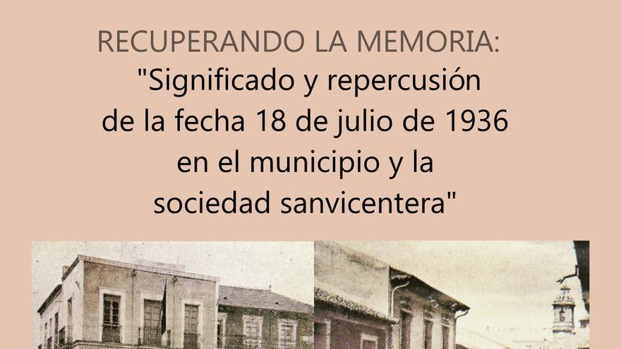 Significado y repercusión de la fecha 18 de julio de 1936 en el municipio y la sociedad sanvicentera