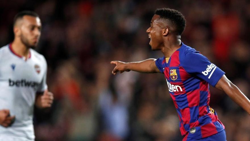 """Ansu Fati evoluciona """"muy satisfactoriamente"""" de su lesión, según el club"""
